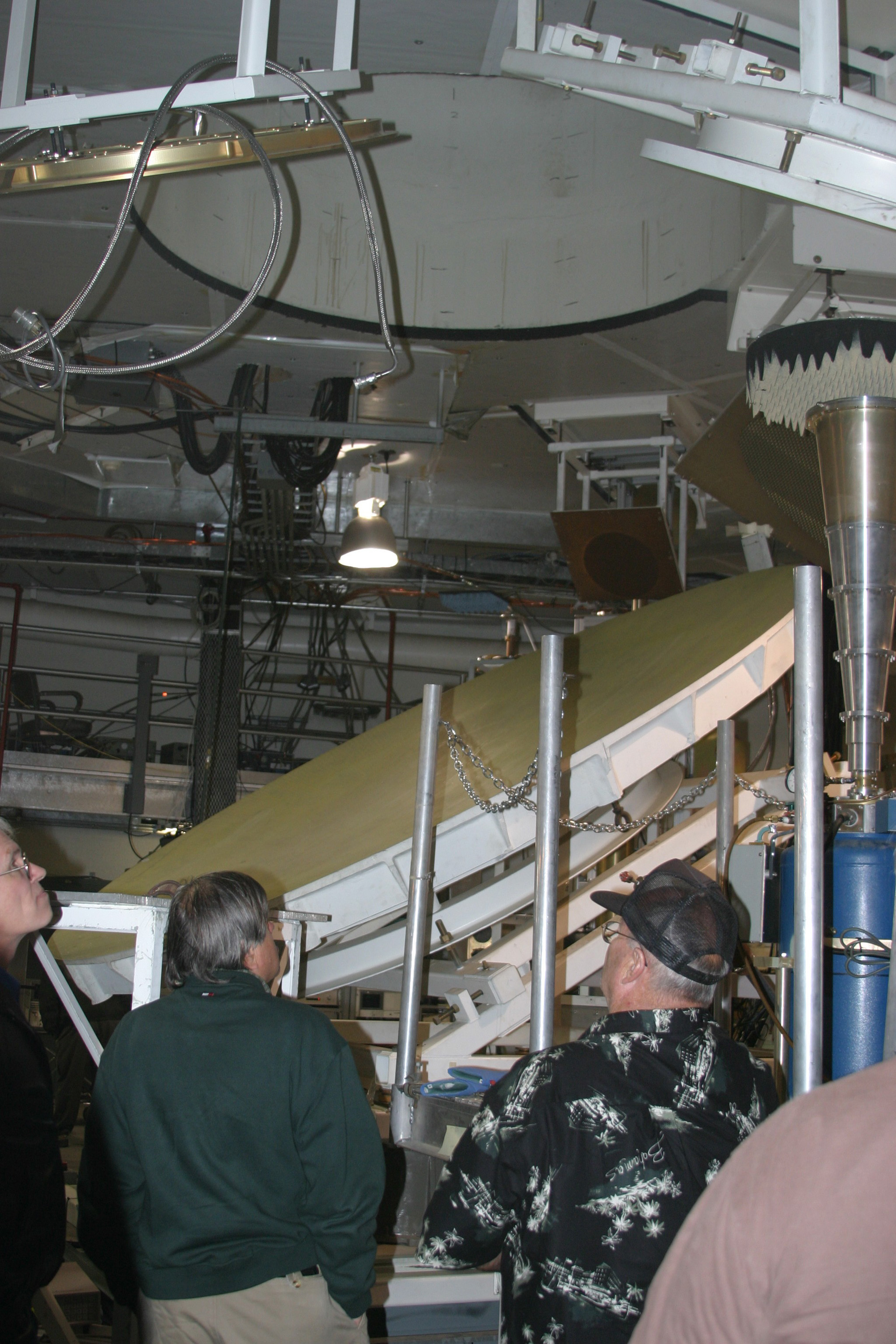 the radio wave reflector located in the basement of the beam